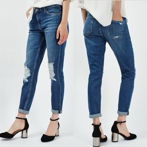 Topshop Moto Lucas Ripped Jeans